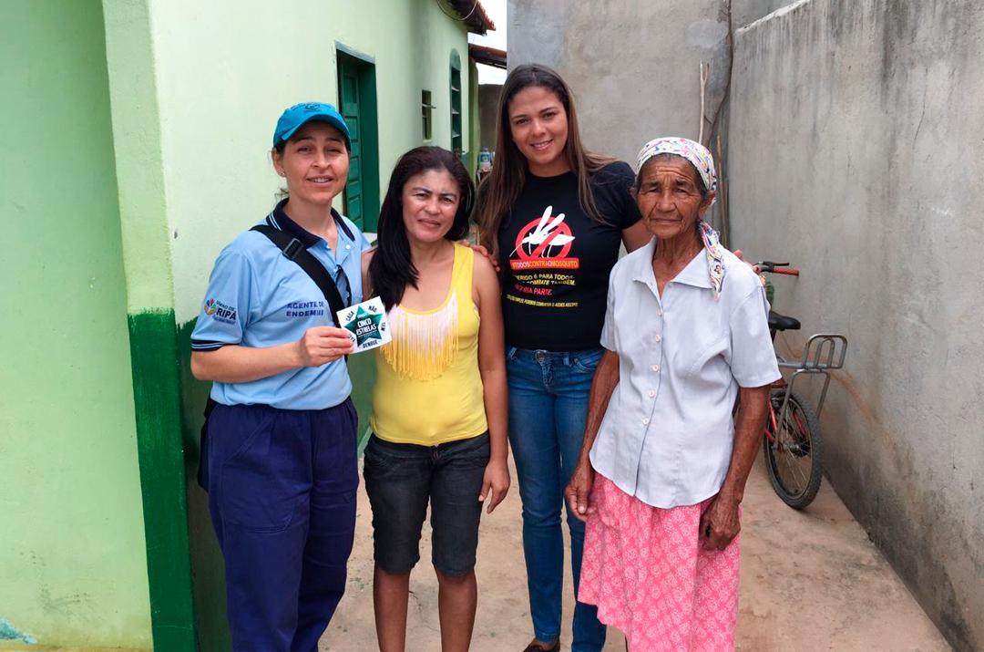 Imagem Casas sem focos do Aedes aegypti são 'premiadas' com selo, em Piripá