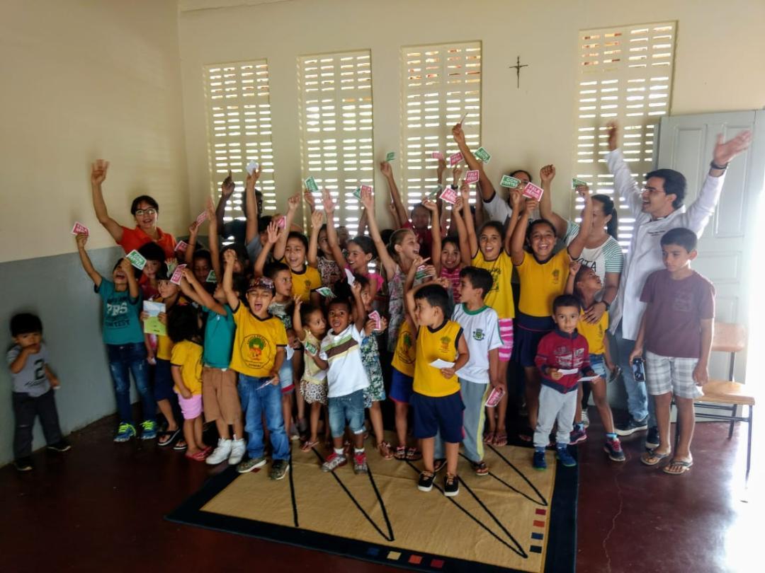 Imagem Alunos da Escola Presidente Médici participam de ações educativas do Programa Saúde na Escola