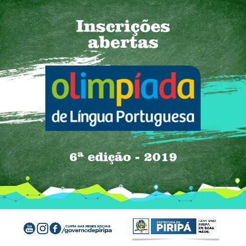 Imagem 6ª edição da Olimpíada de Língua Portuguesa está com inscrições abertas; acesse regulamento