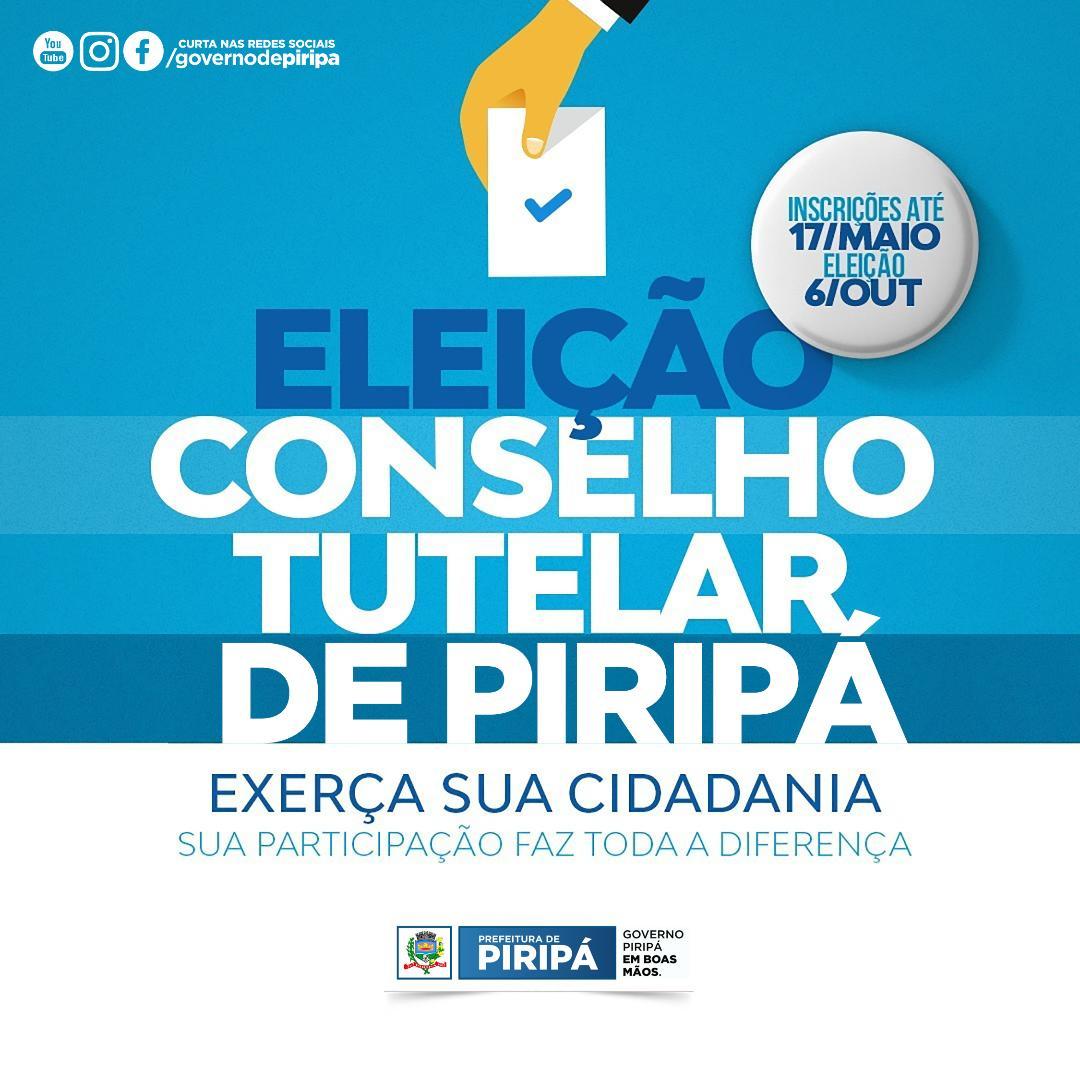 Imagem Inscrições para eleição do Conselho Tutelar de Piripá começam nesta quinta-feira