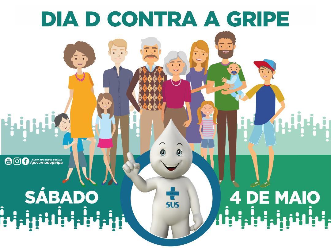 """Imagem Dia """"D"""" de Vacinação contra a gripe acontece neste sábado (4)"""