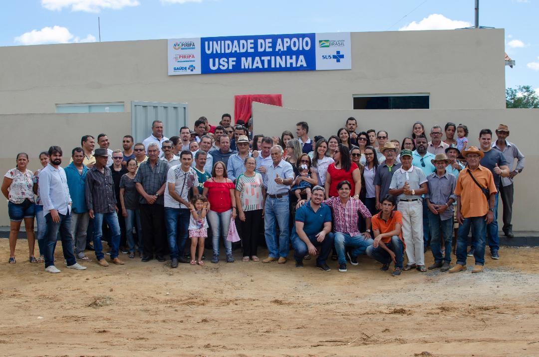 Imagem Nova Unidade de Apoio a Saúde da Família é Inaugurada na comunidade Santana