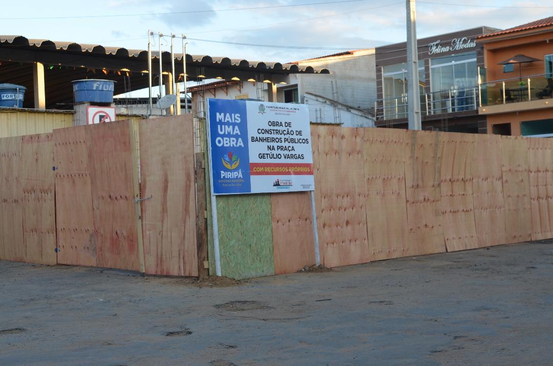 Imagem Prefeitura constrói novos banheiros nas praças da Bandeira e Getúlio Vargas
