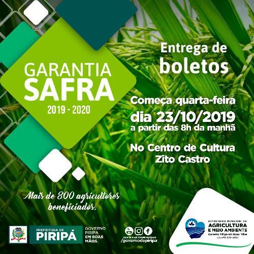 Imagem Secretaria de Agricultura inicia entrega de boletos do Garantia-Safra nesta quarta-feira